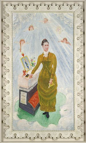 Florine Stettheimer - Portrait of Our Nurse, Margaret Burgess, 1929, oil on canvas