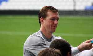 Steven Caldwell - Caldwell training at St Andrew's, 2011