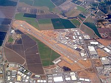Stockton Metropolitan Airport aerial view, September 2017.JPG