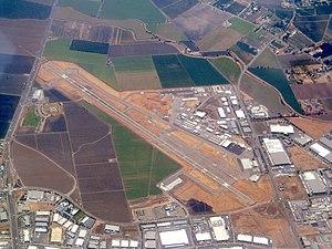 Stockton Metropolitan Airport - Aerial view of the airport in 2017