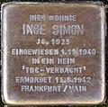 Stolperstein Arnstadt Rosenstraße 10-Inge Simon.JPG