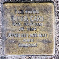 Photo of Minna Caro brass plaque