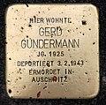Stolperstein Essener Str 20 (Moabi) Gerd Gundermann.jpg