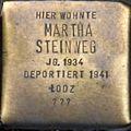 Stumbling stone for Martha Steinweg (Königstraße)