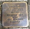 Stolperstein Karlsruhe Leo Metzger Am Stadtgarten 3 (sk).jpg