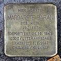 Stolperstein Lottumstr 16 (Prenz) Margarete Baran.jpg