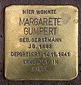 Stolperstein Marienbader Str 12 (Schma) Margarete Gumpert.jpg