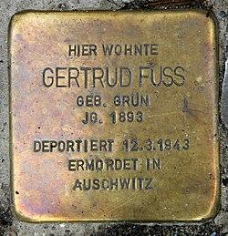Photo of Gertrud Fuss brass plaque