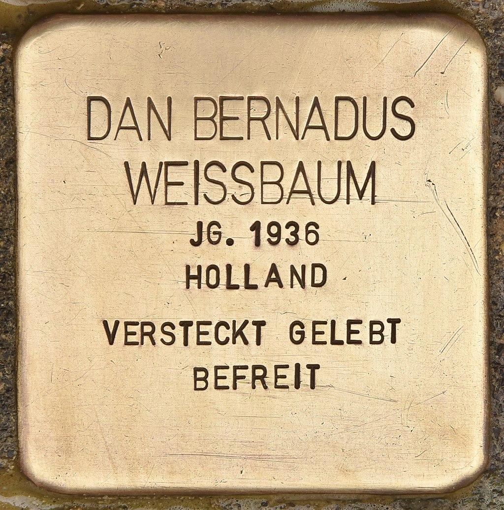 Stolperstein für Dan Bernadus Weissbaum (Neumünster).jpg