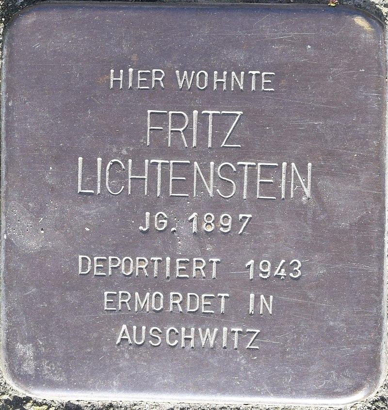 Stolperstein in Bad Pyrmont für Fritz Lichtenstein
