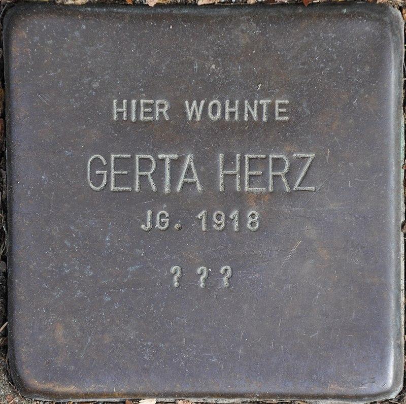 Stolpersteine Euskirchen-Flamersheim, Gerta Herz (Große Höhle 17).jpg