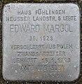 Stolpersteine Köln, Edward Margol (Neusser Landstraße 43).jpg