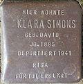 Stumbling block for Klara Simons (Im Dau 12)