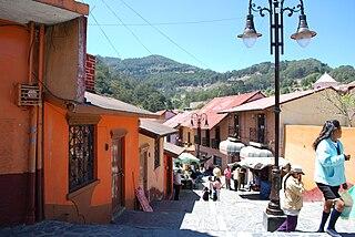 Pinal de Amoles Town in Querétaro, Mexico