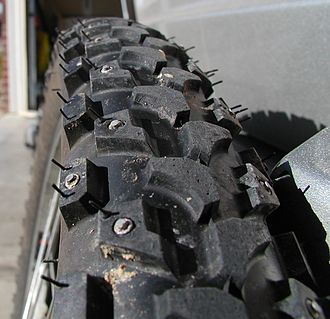 Tread - Studded mountain bike tires for use in icy conditions.