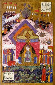 Suleiman the Magnificent receives an Ambassador-by Matrakci Nasuh