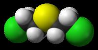 Estructura tridimensional del gas mostaza