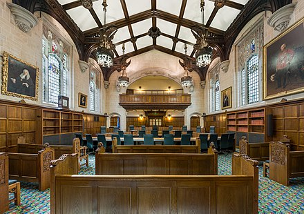 Court 1 in the Supreme Court building Supreme Court of the United Kingdom, Court 1 Interior, London, UK - Diliff.jpg