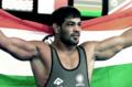 Sushil Kumar (wrestler) in 2014 CWG.png