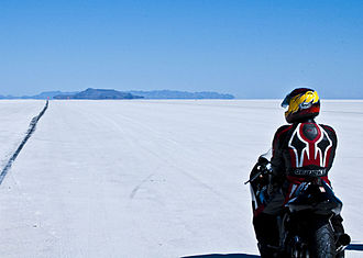 Motorcycle testing and measurement - Suzuki Hayabusa at Bonneville Speed Week.