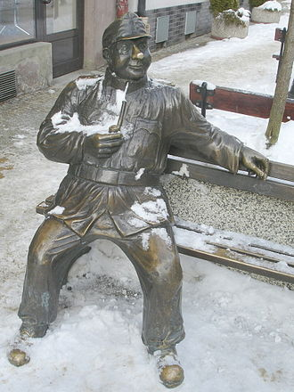 The Good Soldier Švejk - Statue of Josef Švejk in Sanok, Poland