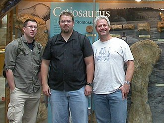 Darren Naish - Naish with Matt Wedel and Mike P. Taylor, the three writers of SVPOW