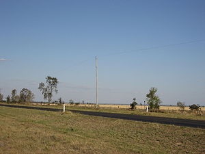 Single-wire earth return - SWER power line in Queensland