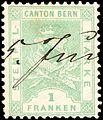 Switzerland Bern 1880 revenue 1Fr - 16E.jpg