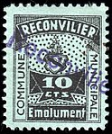Switzerland Reconvilier 1919 revenue 2 10c - 2.jpg
