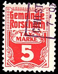 Switzerland Rorschach 1909 revenue 5c - 1.jpg