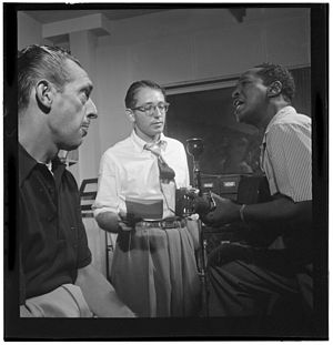 Symphony Sid - Symphony Sid (left) with Josh White (right), WHOM, New York, in the 1940s
