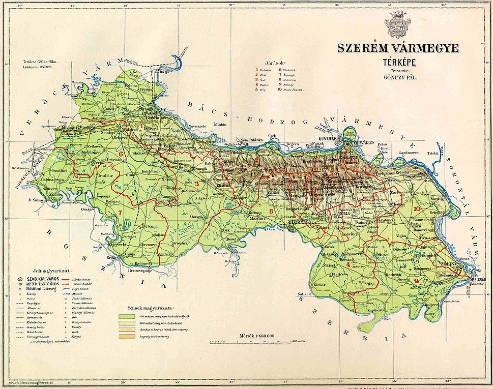 Szerem County Map