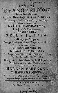 <i>Szvéti evangyeliomi</i> Slovene-language Bible translation