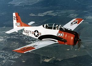 North American T-28 Trojan - A US Navy T-28B in 1973