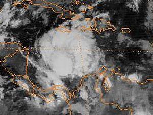 1985 Atlantic hurricane season - Tropical Depression Thirteen on December 7, 1985