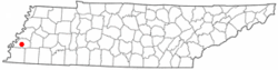 Location of Brighton, Tennessee