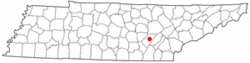 Location of Pikeville, Tennessee