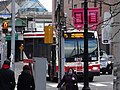 TTC bus 8213 proceeding north on Lower Jarvis, 2014 12 25 (3) (16105755485).jpg