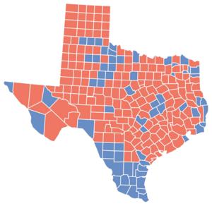 Texas gubernatorial election, 1994 - Image: TX Gov 1994Map