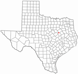 Location of Coolidge, Texas