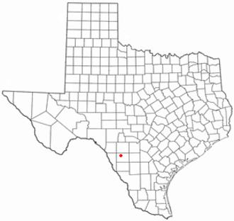 La Pryor, Texas - Image: TX Map doton La Pryor