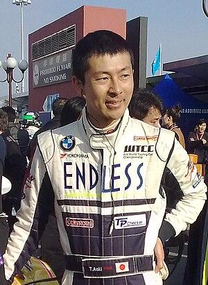 Takayuki Aoki - Takayuki Aoki preparing for the WTCC race in Macau, 2009.