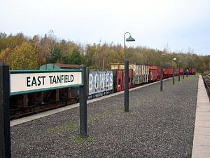 Tanfield Railway - Freight train at East Tanfield