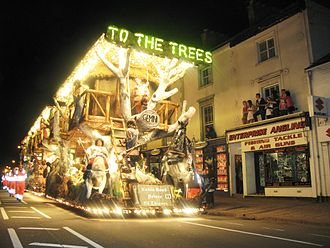 Taunton - The annual Taunton Carnival takes a route through the shopping district in the centre of the town.