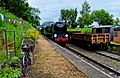 Taw Valley and the Stationmasters bike, Eardington station (geograph 5794774).jpg
