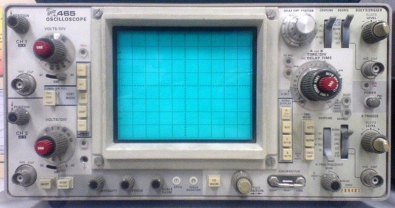 Vintage Tektronix Oscilloscopes : File tektronix oscilloscope g wikimedia commons