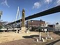 Tempozan Bridge and Stele for Visit of Emperor Meiji in Tempozan Park 2.jpg