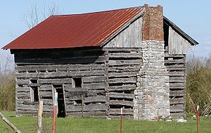 Ten Mile, Tennessee - Log Barn Near Ten Mile