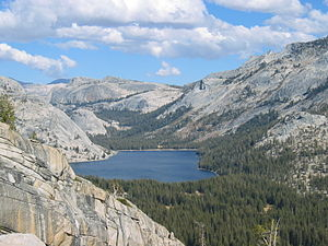 Tenaya Lake - Tenaya Lake as seen from a hill northwest of the lake