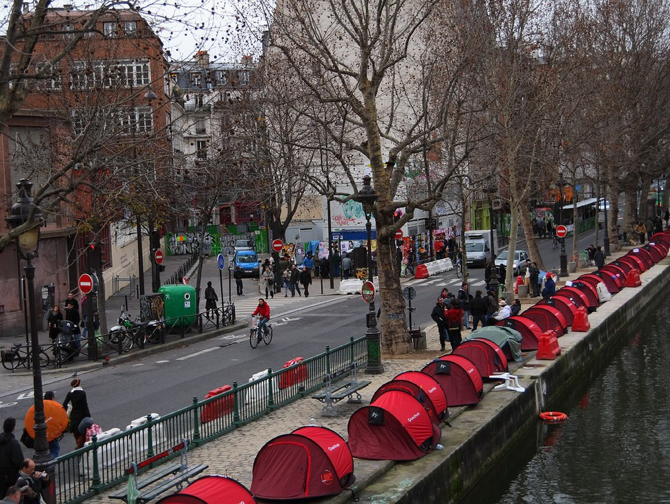 Tents along the Canal St Martin by aleske in Paris